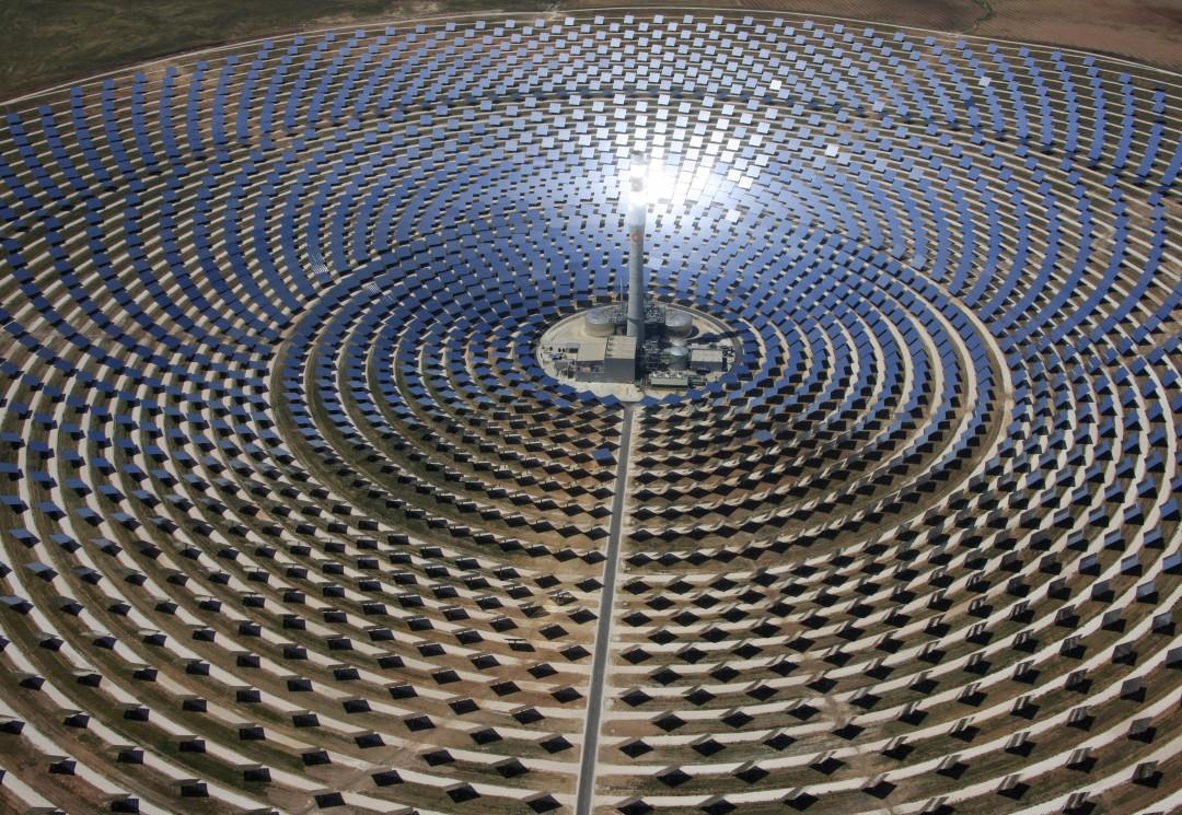 Gema solar, torre en operación SENER